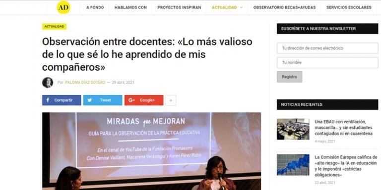 Noticia completa en 'Actualidad Docente'